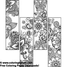 Bookmark Collection Mehndi Design Coloring Page 1841 Ultimate