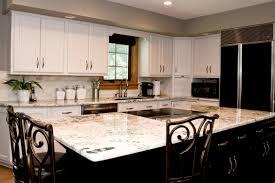 Kitchen Cabinets  Wonderful White Granite Kitchen - White granite kitchen