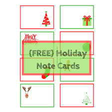 Free Printable Note Cards Holiday Note Cards Free Printable Simple Mom Review