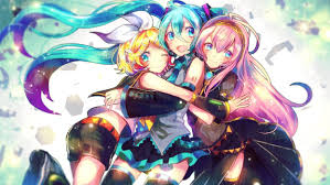 vocaloid kagamine rin megurine luka and hatsune miku wallpaper