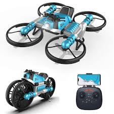 mini <b>drone 2.4G</b> remote control <b>deformation motorcycle</b> folding rc ...