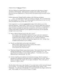 ishmael essay assignment
