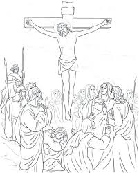 Stations Of The Cross Coloring Pages Cross Coloring Pictures Cross