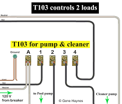 how to wire t103 timer t103 controls two loads