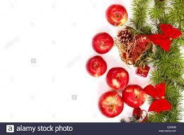 Weihnachts Dekoration Mit Grünen Kiefern Oder Tannen Und