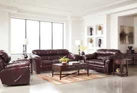 Decor Astonishing Brown Leather Double Sofas Ashley Furniture