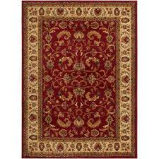 royalty red ivory 4 ft x 5 ft indoor area rug
