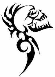 Tribal Skull апликация идеи для татуировок эскиз тату и татуировки