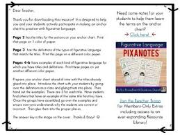 Figurative Language Chart Printable Figurative Language Anchor Chart By Mrs Spangler In The