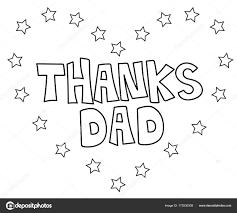 Bedankt Papa Hart Kleurplaat Stockvector Keeweegirl 173530308