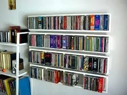 wall mounted cd rack black