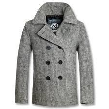 kabát pánský zimní brandit pea coat anthracite heringbon 3109 68