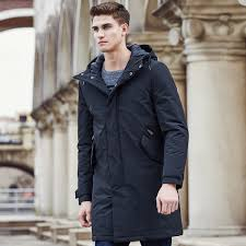 pioneer camp new arrival autumn winter jacket men brand clothing cotton thick long coat male quality