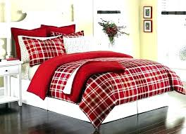 duvet covers red buffalo plaid cover image of check flannel black p