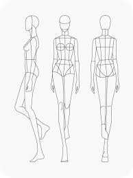 Blank Fashion Design Templates Extraordinary Download Fashion Figure Templates PrêtàTemplate 자세 In 48