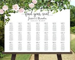 Wedding Alphabetical Seating Chart Rose Garden Seating Chart Thereismore Me