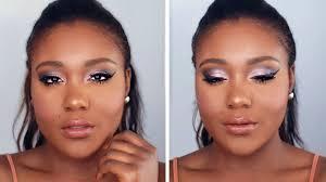 flawless foundation romantic pinks makeup tutorial black women makeup dark skin you