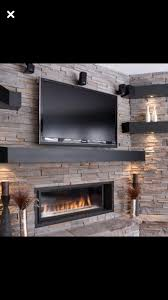 are you interested in mounting tv above fireplace. Αποτέλεσμα εικόνας για Low Linear Fireplace On Bump Out With Tv Above Are You Interested In Mounting V