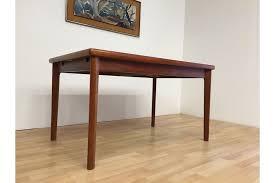 danish vintage mid century 60s 70s rectangular draw leaf teak dining table photo 1