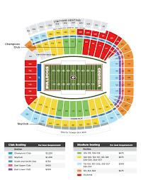 sanford stadium seating chart