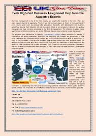 seek high end business assignment help from the academic experts