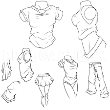 How To Draw Anime Clothes Step By Step Drawing Guide By Dawn Dragoart Com