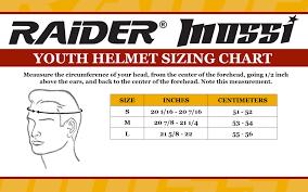 Bike Helmet Size Chart