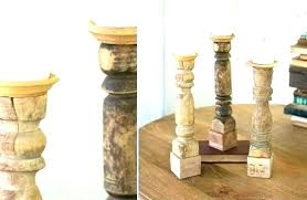 enjoyable design large wooden candle holders