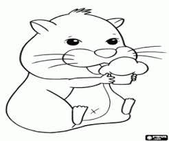 Kleurplaat De Hamster En De Cupcake Kleurplaten