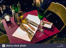 Table Setting In French Paris France Table Setting In French Local Bistro Restaurant