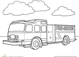 Small Picture Fire Truck Worksheet Educationcom