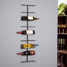 9 bottle brown iron wall mounted wine rack for wine organizer idea