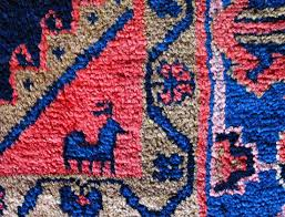 front part of the handmade oriental rug