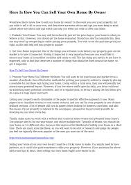 Here Is How You Can Sell Your Own Home By Owner By Joblessstem1316