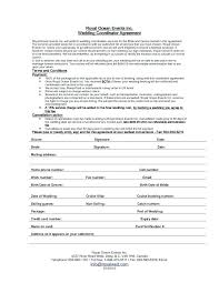 Event Planner Contract Event Coordinator Contract Template Wedding ...