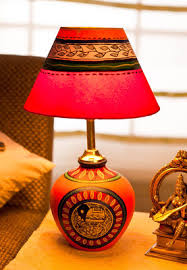 Small Picture Ethnic Terracota Table Lamp home decor online shopping india