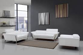 modern leather sofa bed. Plain Leather Divani Casa Ronen Modern White Leather Sofa Set With Bed