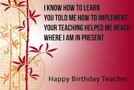 Teacher Message Best Happy Birthday Wishes To My Teacher With Images