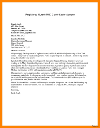 Nursing Cover Letters For Resumes Examples Nursing Cover Letter Sample Wwwfungramco 83