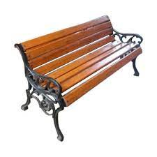 iron and wood iron wooden garden bench