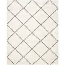 safavieh hudson beckham ivory gray indoor moroccan area rug common 8 x
