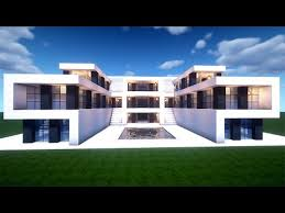 easy minecraft large modern house