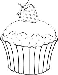 Muffin Met Aardbei Kleurplaat Gratis Kleurplaten Printen
