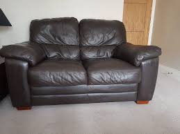 harveys brown leather 2 seater sofa