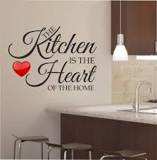 Sweet Quotes Kitchen Wall Art Decal Ideas On White Painted Also Marble Countertop And Chrome Arch Faucet