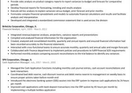 Financial Analyst Resume Summary From 60 Awesome Senior Financial