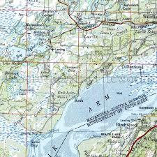 Alaska Nautical Charts Alaska Big Lake Horseshoe Lake Knik Arm Nautical Chart Decor