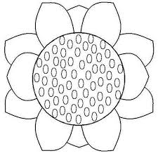Small Picture Close up Sunflower Coloring Page Download Print Online