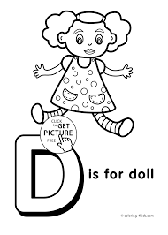 Small Picture Letter D coloring pages of alphabet D letter words for kids