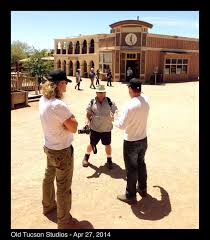 at old tucson studios with director dustin rikert, producer/actor william  shockley/ and dp aj raitano